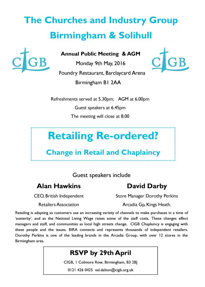 Retailing Re-ordered Meeting